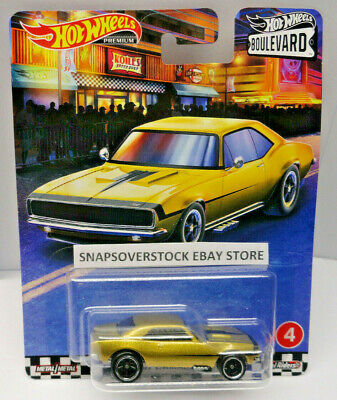 2020 HOT WHEELS PREMIUM BOULEVARD METALLIC GOLD 1967 CHEVY CAMARO #4/5, VHTF