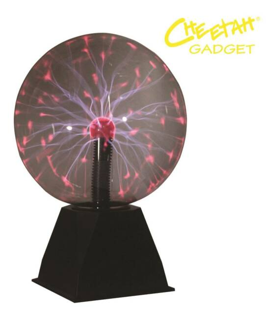 Cheetah Disco Party DJ Lighting Contact Touch Sensitive 8 Inch Plasma Ball Lamp