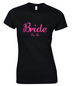 Wedding Party Ladies T-Shirts & Vests - Pink Hen Do Novelty Printed Funny Joke