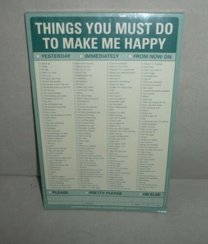 Things You Must Do To Make Me Happy Pad Knock Knock Chores Repairs Lifestyle NEW