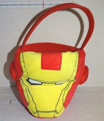 Marvel Avengers Iron Man Halloween Easter Plush Basket Bucket (Avengers Easter Basket)