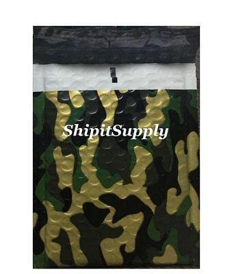 1-300 2 8.5x12 Camo Color Camouflage Poly Bubble Mailers Fast Shipping