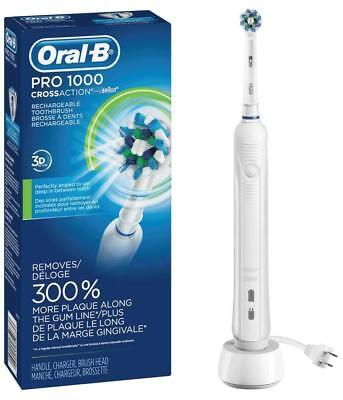 - Oral-B PRO 1000 CROSSACTION Electric Toothbrush w/3D Action ~ NEW ~