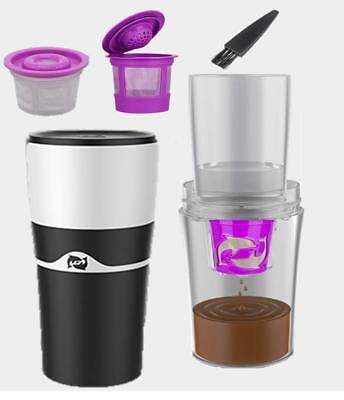 Coffee Mug - Compatible with K-Cups and Reusable K-Cups - Includes 3 Filters