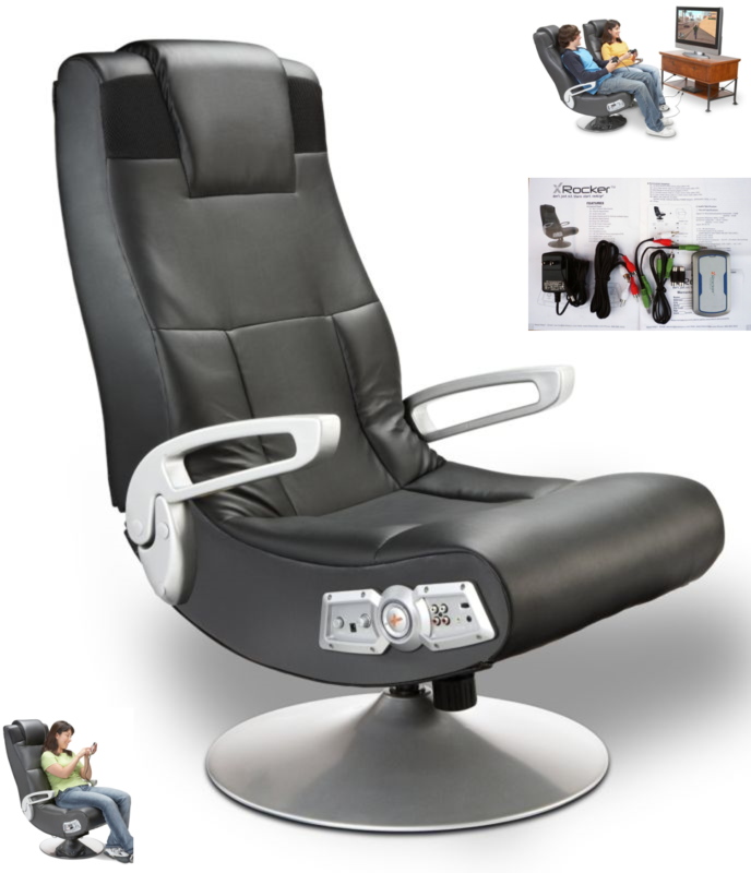 Ace Bayou X Rocker 5127401 Pedestal Video Gaming Chair, Wire