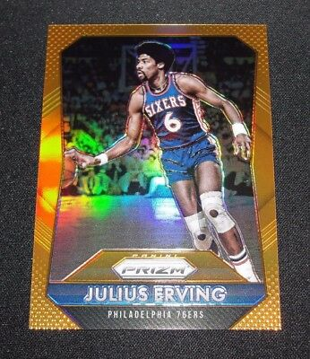 2015-16 Panini Prizms JULIUS ERVING #288 Orange Prizm/65 Philadelphia 76ers Dr J