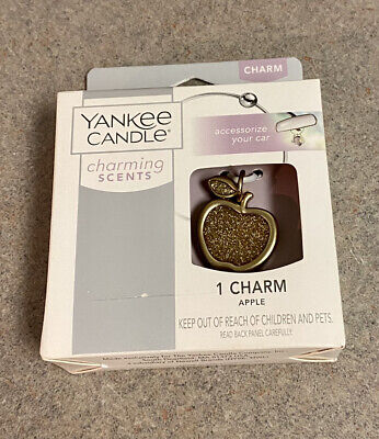 YANKEE CANDLE Charming Scents CHARMS Hanging Car Air Freshener Accessory Apple