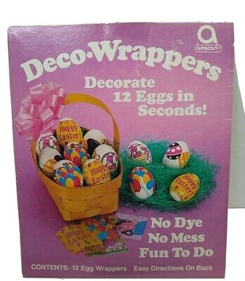 Deco-Wrappers  18 pieces Heat Shrink  Wraps   Easter Egg decorations