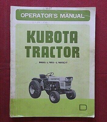 1977-82 Genuine Kubota L185 L185dt Fp Tp Tractor Operator Parts Catalog Manual