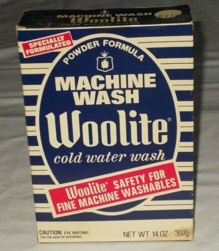 Vintage Woolite Cold Water Wash 14 Oz. Box Washing Machine Soap Display SEALED