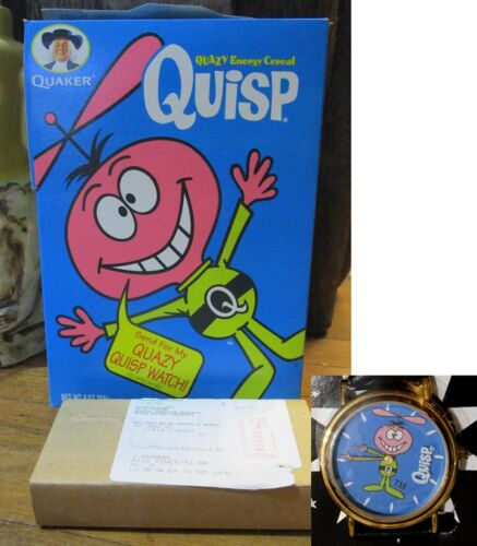 Quisp Cereal Box & Quisp Watch NEW Sealed in Box 1997