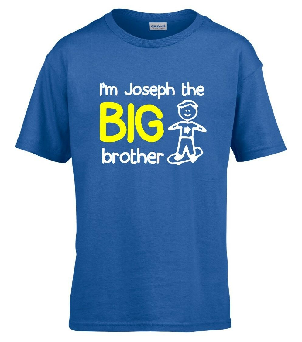 ee0a6e00d Details about Personalised I'm The Big Brother Boys T-Shirt 1-14 Yrs Funny  Custom Gift Present