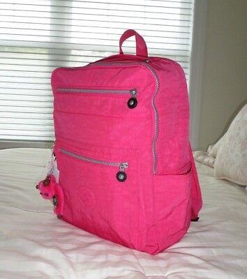 NWT Kipling CAITY Book Bag Backpack VIBRANT PINK BP3987