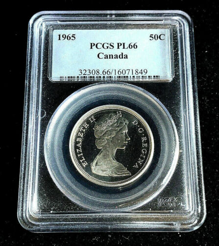 1965 Canada Fifty Cents Silver • PCGS PL66