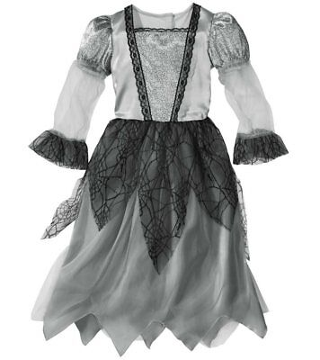 Halloween Fasching Karneval Kostüm Geister Braut - Gr. S 116 (4-6 Jahre)