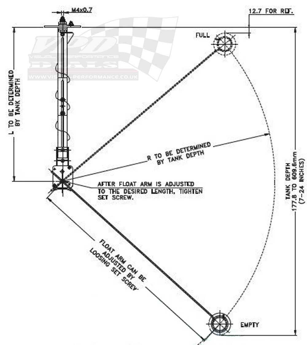 fuel gauge tank level sender unit universal marine power