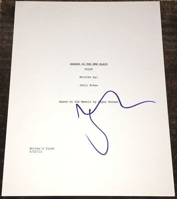 Taylor Schilling Signed Autograph Orange Is The New Black Pilot Script W Proof