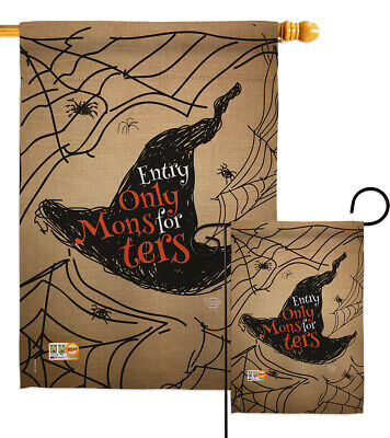 Entry Only For Monsters - Impressions Decorative Flag Collection - HG191021
