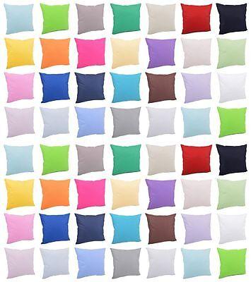Kissenhülle Kissenbezug Dekokissen 100% Baumwolle Uni 40x40, 40x60, 40x80, 50x50