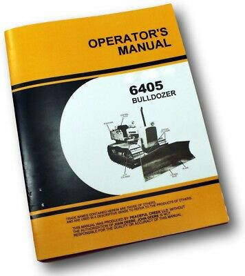 Service Operators Manuals For John Deere 450 Crawler Dozer 6405 Bulldozer