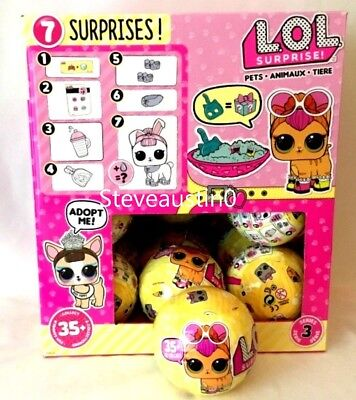 Authentic Lol Pets Doll Series 3 Wave 1 Surprise 7 Layers L O L Big 1 Ball Toy
