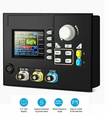 60mhz Embeddable Dual-channel Signal Generator Counter Waveform Frequency Meters