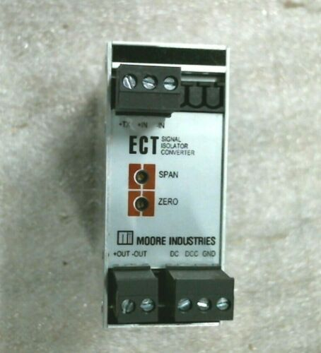 Moore Industries Model ECT/4-20MA/4-20MA/24DC-TX Signal Isolator & Converter