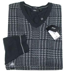 Boss-Black-Pullover-DRACON-vestibilita-slim-scuro-Blue-Cotone-Cashmere