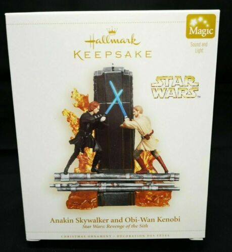 Anakin Skywalker and Obi-Wan Kenobi 2006 Hallmark Keepsake Ornament Star Wars