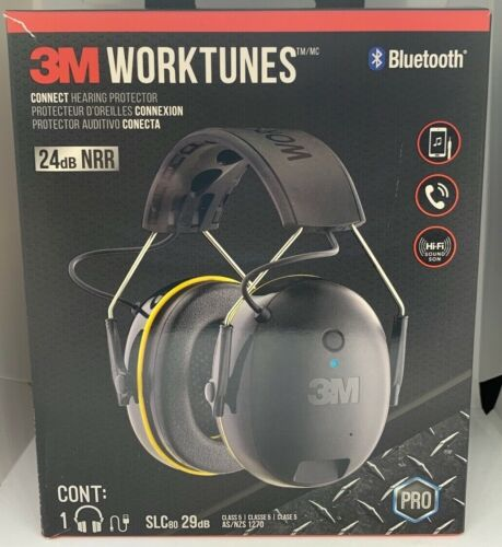 NEW 3M WORK TUNES HEADPHONES 90543-4DC NOISE CANCELING BLUETOOTH INTEGRATED MIC