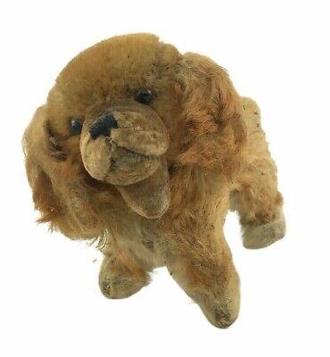Vintage 1950s 1960s Steiff Germany Mohair Dog Cocker Spaniel Stuffed Animal Toy