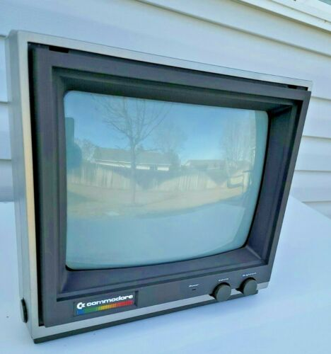COMMODORE 64 Color Monitor Model CM-141 (TESTED,WORKING )