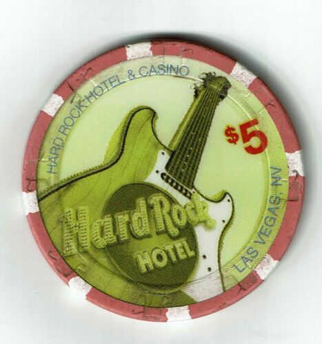 $5 HARD ROCK HOTEL Casino Chip 2007 SAVE THE PLANET Las Vegas, Nevada