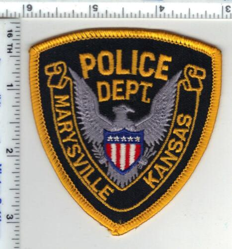 Marysville Police (Kansas) Cap/Hat Patch - new style from the 1980