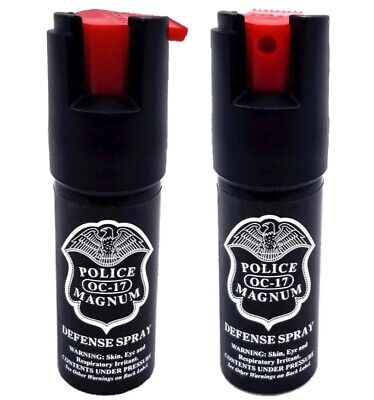 2 Police Magnum pepper spray .50oz unit safety lock personal defense protection