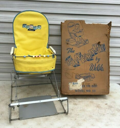 Vintage WELSH PLAYMATE Baby Bouncer Jumper Seat Mid Century in Box