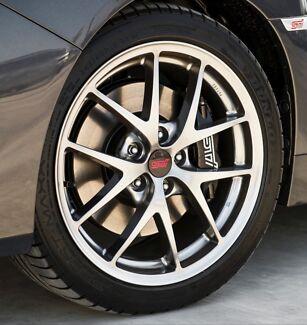 Subaru wrx sti genuine wheels 1 week old