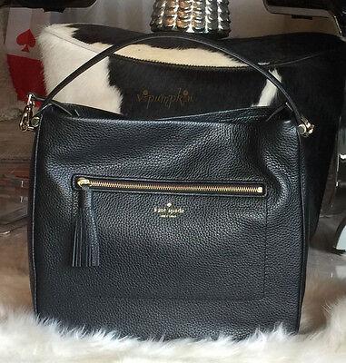 Kate Spade Chester Street Michaela Leather Bag Crossbody Handbag Black