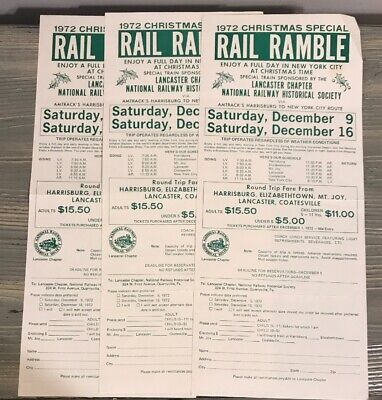 Rail Ramble 1972 Christmas Special National Railway Historical Chapter Lancaster ()