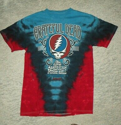 retro Grateful Dead Size M T-Shirt Great American Music Hall 1975 Tie Dye ()