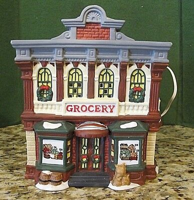 Heartland Valley Village ~ Grocery Shop ~ 1997 PORCELAIN LIGHTED HOLIDAY GIFT