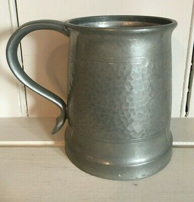 Antique TUDRIC HAMMERED Pewter Tankard size 4 MADE IN ENGLAND 5032