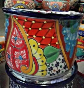 Talavera Mexican Pottery Curved 7