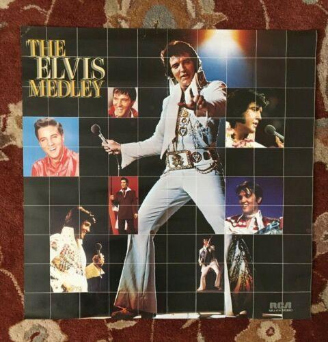 ELVIS PRESLEY  The Elvis Medley  rare original promotional poster