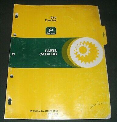 John Deere 950 Tractor Parts Manual Book Catalog Pc1640