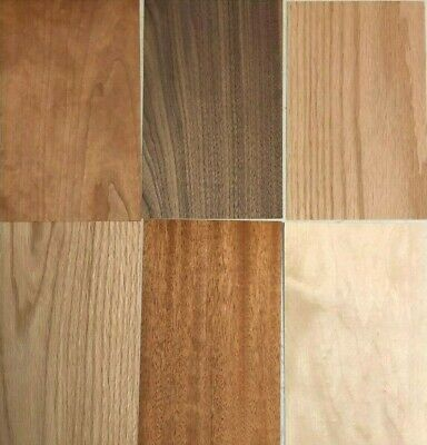 Domestic Wood Veneer Pack: Maple, Oak, Walnut, Mahogany, Cherry 60 pieces