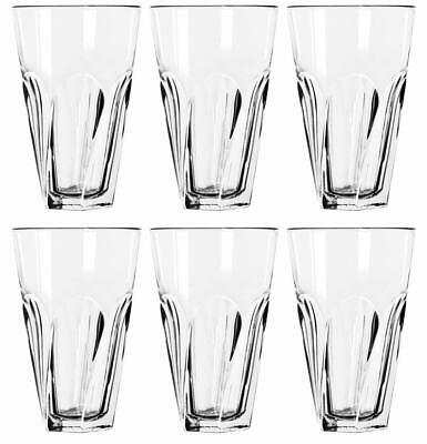 Libbey Tumbler Set (SET OF SIX (6) LIBBEY GIBRALTAR TWIST COOLER TUMBLER GLASS 16 OZ  MADE IN USA!!)