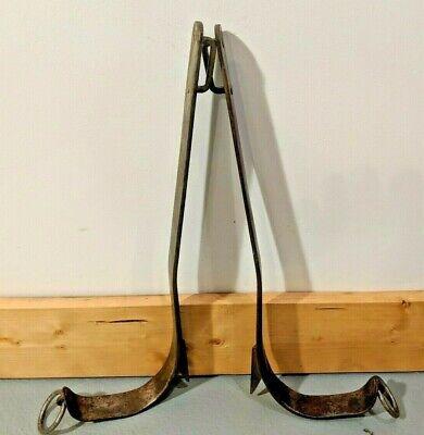 Vintage Buckingham Climbing Spikes Gaffs 16 12 -9129 Rl 468 No Strapspads