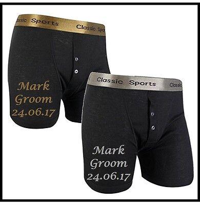 Personalised WEDDING boxer shorts.Best Man,Groom,Usher, etc  Choice of colours. (Best Quality Boxer Shorts)