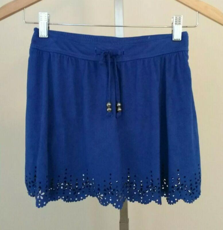 Justice Girls Blue Skort Skirt with Shorts Size 10